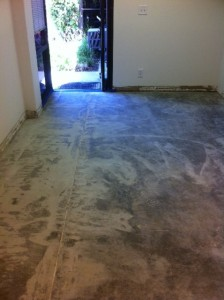 My clean concrete floor