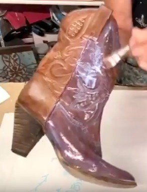 Adding Foil Adhesive to the Boot