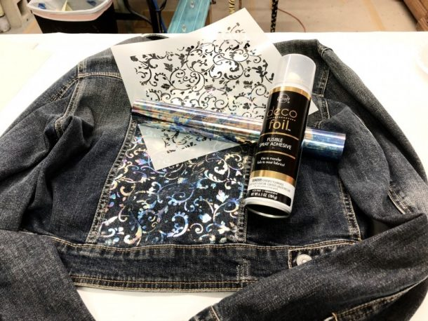 DIY: Custom Foiled Jean Jacket