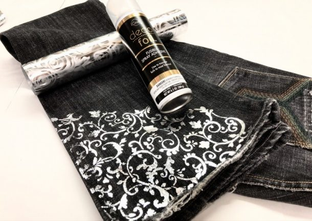 DIY: Custom Foiled Jeans