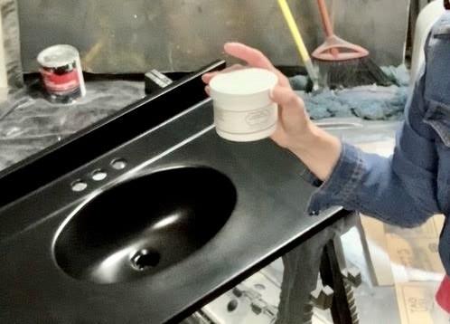 Custom Foiled Epoxy Sink
