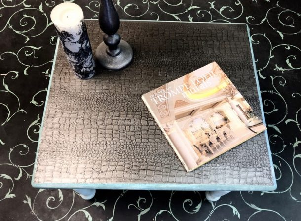 Custom Crocodile Skin Table