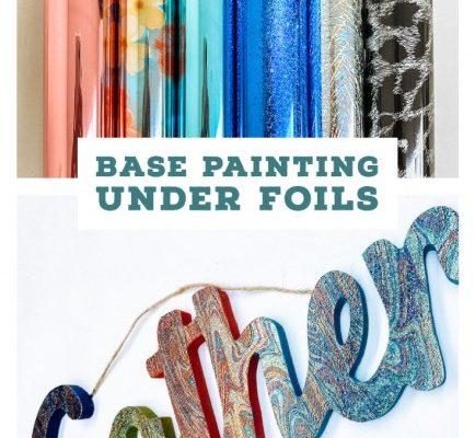 Base Painting Under Foils