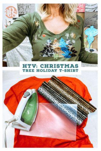 HTV: Christmas Tree Holiday T-Shirt